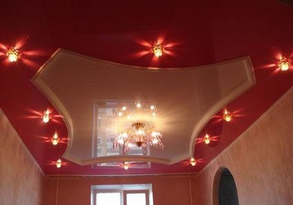 Assortment of stretch ceilings in Moscow